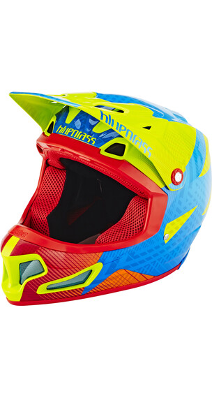 bluegrass Brave Fullface-Helmet green/blue/orange